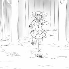 Rival-chan fleeing.