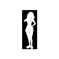 Kizana's silhouette from
