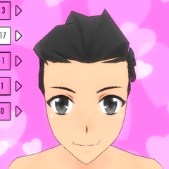 Hair Style #17 (Combed Back)