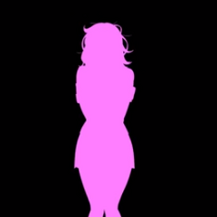 Her silhouette from