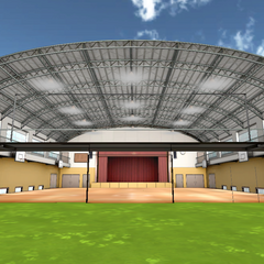The second gym without exterior before February 15th, 2016.