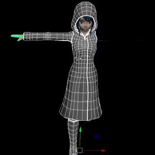 製作中的雨衣,顯示在Druelbozo的Twitch