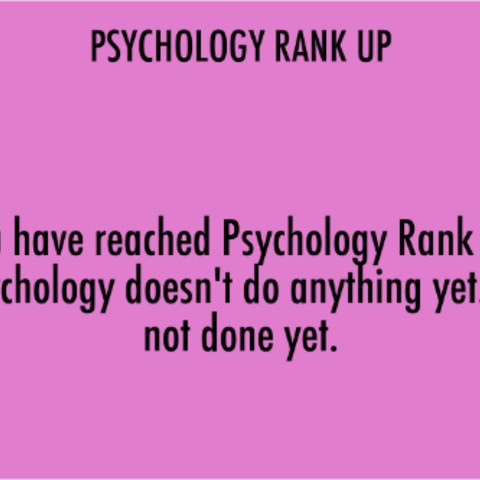 Psychology Rank 1. April 15th, 2016.