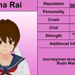 Mina的第二版個人資料