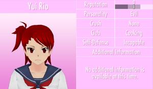 6-1-2016 Yui Rio Profile