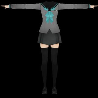 有可能是女生制服模型,在Druelbozo的Twitch上發出