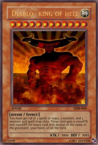 Image - Diablo- king of hell card.png | Yu-Gi-Oh Card