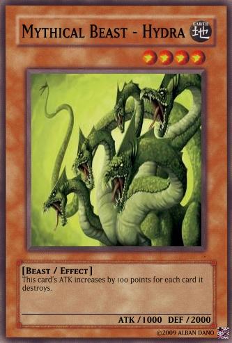 mythical beast hydra yugioh card maker wiki fandom