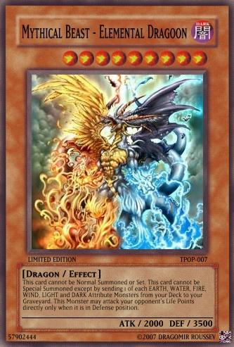 Mythical Beast Elemental Dragoon Yu Gi Oh Card Maker