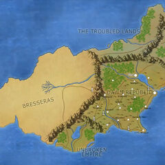 The world of Arrak, where the events of the Lightfall campaign take place. Drawn by Mark Hulmes.