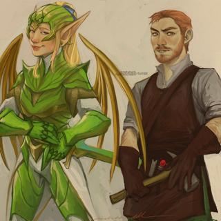 Berym and Eldraphyn, by <a rel=