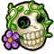 Trophy-Bloomin' Skull