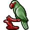 Trophy-Crimson and Jade Statuette