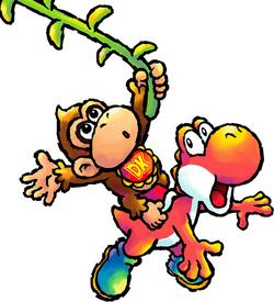 Baby Donkey Kong Artwork - Yoshi's Island DS