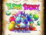 Title Screen - NA and Europe - Yoshi's Story