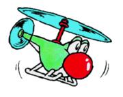 Yoshi Helicopter Art - Super Mario World 2
