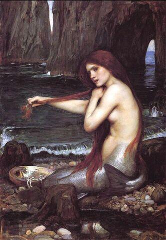 檔案:John William Waterhouse - Mermaid.jpg