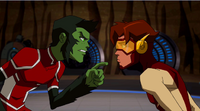 Beast Boy questions Impulse