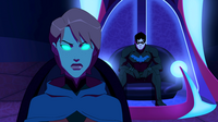 Miss Martian and Nightwing look for the team