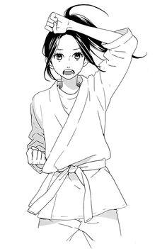 Catherine in karate uniform