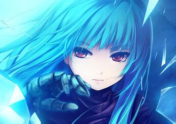 Blue hair zero point girl