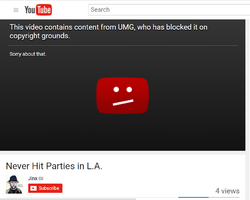 Jinx blocked video