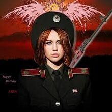 Miley as a communist