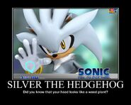 Silver the hedgehog by thebluev3-d5zsiza