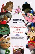 Paddington Bear and Fern Arable (Gnomeo and Juliet) Poster