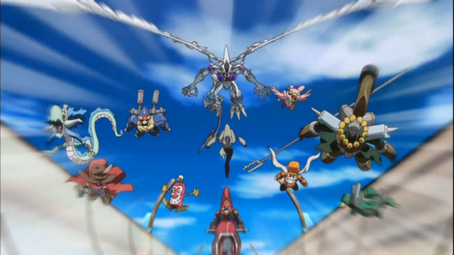 File:Yusei With Monsters.png