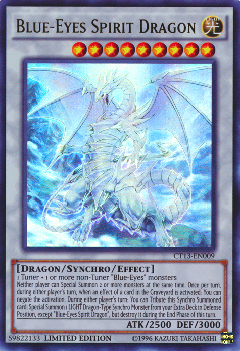 Card Trivia Blue Eyes Spirit Dragon Yu Gi Oh Fandom