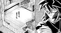 Yugis watched by Dark Bakura's shadow