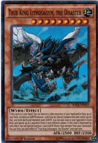 YuGiOh! TCG karta: True King Lithosagym, the Disaster