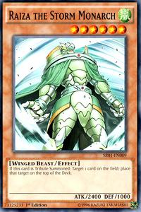 YuGiOh! TCG karta: Raiza the Storm Monarch