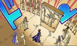 Mahado's tablet brought to the pharaoh