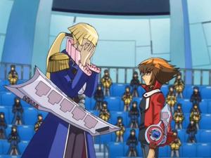 Jaden talks to Crowler after winning their Duel