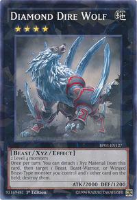 YuGiOh! TCG karta: Diamond Dire Wolf