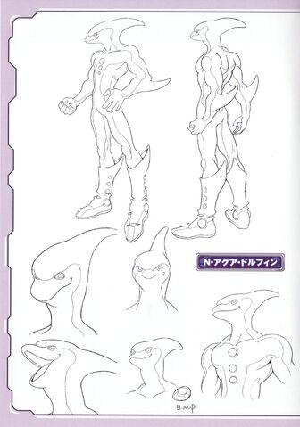 File:Aqua Dolphin lineart.jpg