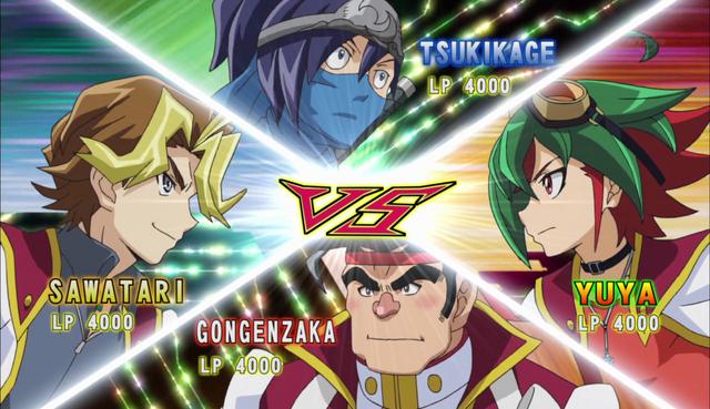 File:Yuya VS Sylvio VS Gong VS Tsukikage.png