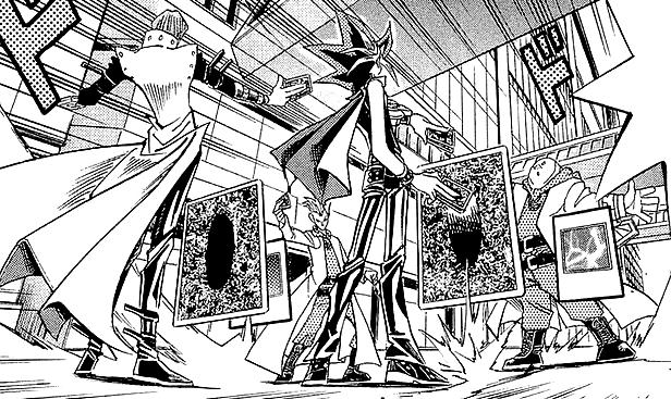 File:Dark Yugi and Kaiba VS Rare Hunter Tag.png