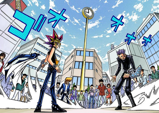 File:Dark Yugi VS Rare Hunter - manga.png