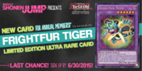 Weekly Shonen Jump July 2015 membership promotional card