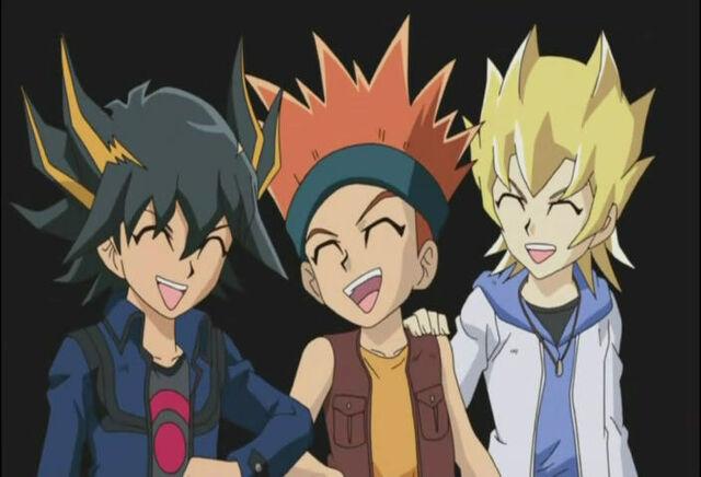 Arquivo:Yusei, Crow and Jack.jpg