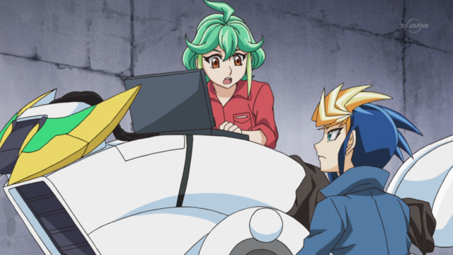 File:Yugo & Rin work on their runner 2.png