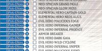 Duelist Pack -JADEN YUKI 3- Checklist