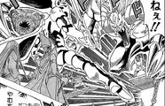Kisara, Seto and the prisoners' ka battle (manga)