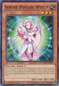 YuGiOh! TCG karta: Serene Psychic Witch