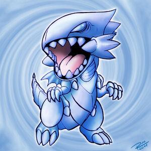 Chibi blue eyes white dragon by raphtil-d3fzavv