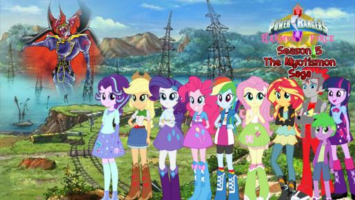 Power Rangers Harmony Force Season 5 - The Myotismon Saga Poster