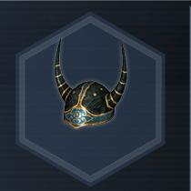 Golden Horned Helm con